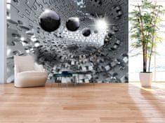 Murando DeLuxe 3D Stříbrná skládanka Rozměry (š x v) a Typ: 150x105 cm - vliesové