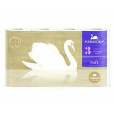 Harmony Toaletný papier 3-vrstvový Soft CREAM Perfumes biely 8 ks
