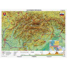 Stiefel Mapa Slovensko-geografická B1 formát
