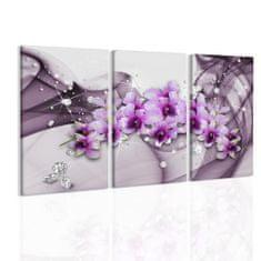 InSmile Obraz orchideje v růžové vlně Velikost: 120x80 cm