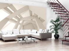 Murando DeLuxe 3D Krémová konstrukce Rozměry (š x v) a Typ: 350x245 cm - vliesové