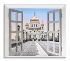 Dalenor 3D obraz Moskva za oknom, 120x110 cm