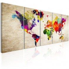 Murando DeLuxe Obrazy - mapa světa Velikost: 200x80 cm