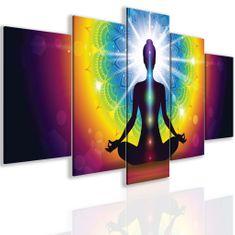 InSmile Obraz jóga a čakry Velikost: 100x50 cm