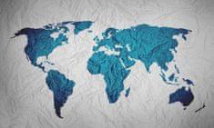 Dalenor Obraz Pokrčená mapa, 150x100 cm