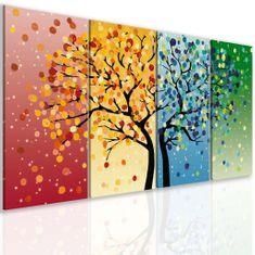 InSmile Obraz strom roční období Velikost: 80x40 cm