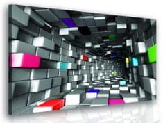 InSmile 3D obraz - barevné kostky Velikost: 60x60 cm