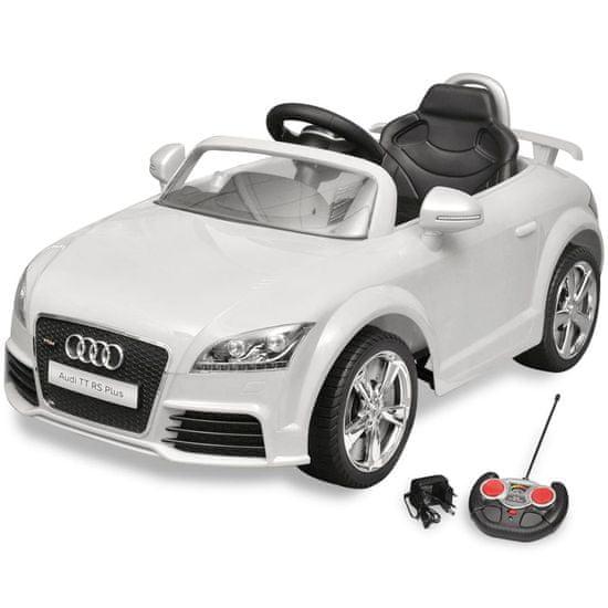 Vidaxl Audi TT RS dětské auto s dálkovým ovládáním bílé
