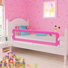 Detská bezpečnostná zábrana 150 x 42 cm ružová