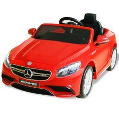 Samochód elektryczny dla dzieci, czerwony Mercedes Benz AMG S63