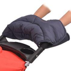 Mufka na dłonie do wózka 55x25 cm, granatowa