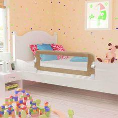 Zábrana na detskú posteľ, sivohnedá 102x42 cm, polyester