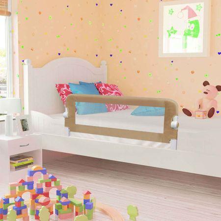 shumee Barierka do łóżeczka dziecięcego, taupe, 102x42 cm, poliester