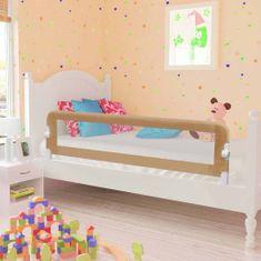 Zábrana na detskú posteľ, sivohnedá 150x42 cm, polyester