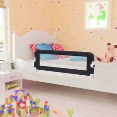Zábrana na detskú posteľ, sivá 102x42 cm, polyester