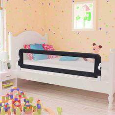 Zábrana na detskú posteľ, sivá 150x42 cm, polyester