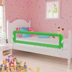 Zábrana na detskú posteľ, zelená 120x42 cm, polyester