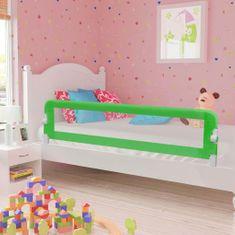 Zábrana na detskú posteľ, zelená 180x42 cm, polyester