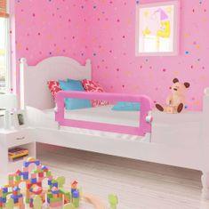 Zábrana na detskú posteľ, ružová 120x42 cm, polyester