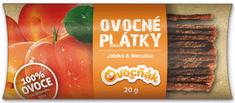 Ovocňák plátky Jablko - Marhuľa 20 x 20 g