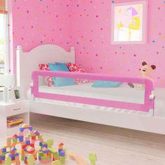 Zábrana na detskú posteľ, ružová 180x42 cm, polyester