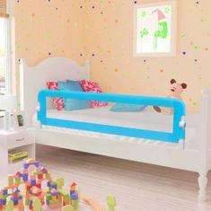 Zábrana na detskú posteľ, modrá 120x42 cm, polyester