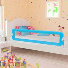 Zábrana na detskú posteľ, modrá 180x42 cm, polyester