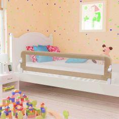 Zábrana na detskú posteľ, sivohnedá 180x42 cm, polyester