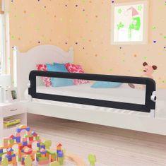 Zábrana na detskú posteľ, sivá 180x42 cm, polyester