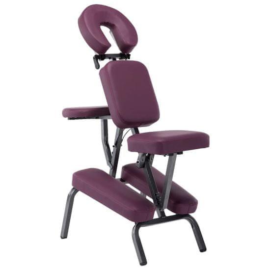 Masážna stolička, umelá koža, burgundská červená 122x81x48 cm