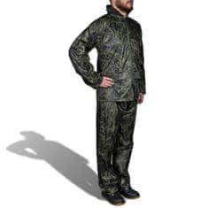 shumee Pánský 2 dílný oblek do deště s kapucí - velikost M - maskáčový