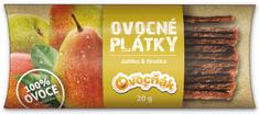 Ovocňák plátky Jablko - Hruška 20 x 20 g