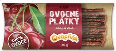 Ovocňák plátky Jablko-Višňa 20 x 20 g