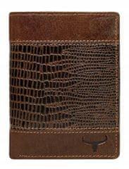 Buffalo Wild Pánská kožená peněženka Jack s potiskem, hnědá
