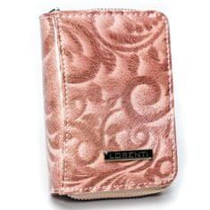 Lorenti Malá kožená dámská peněženka Tamara, růžová