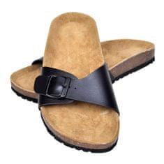 shumee Dámské bio korkové sandály s 1 přezkou černé velikost 39
