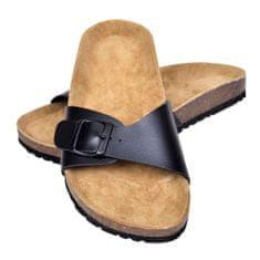 shumee Dámské bio korkové sandály s 1 přezkou černé velikost 38