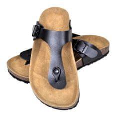 Čierne unisex korkové sandále v dizajne Flip Flop, č. 38