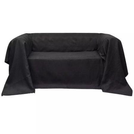 shumee Mikro szálas kanapé terítő / védőhuzat 270 x 350 cm antracit szín