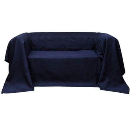 shumee Mikro szálas kanapé terítő / védőhuzat 210 x 280 cm sötétkék