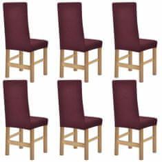 shumee Elastyczne pokrowce na krzesła, 6 szt, burgundowe