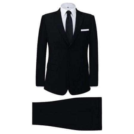 shumee Moška Dvodelna Poslovna Obleka Črne Barve Velikost 48