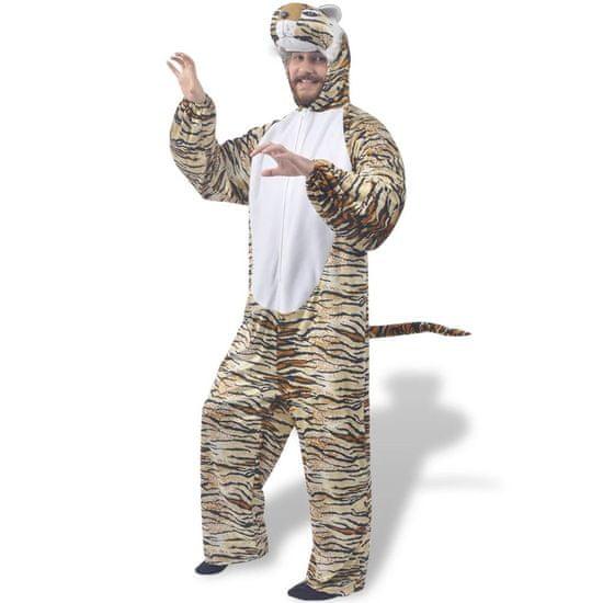Kostým na karneval - tiger, veľkosť M-L vidaXL
