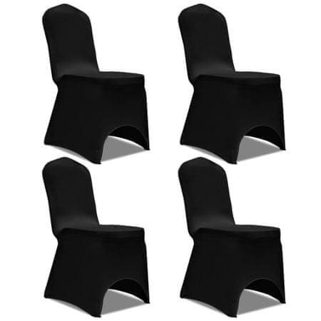 shumee 4 db nyújtható szék huzat fekete