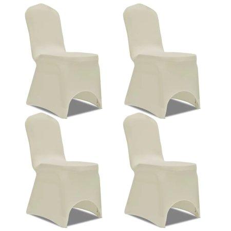 shumee 4 db nyújtható szék huzat krém