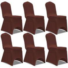 shumee Elastyczne pokrowce na krzesła, 6 szt., brązowe