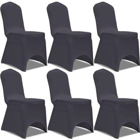 shumee 6 db nyújtható szék huzat antracit