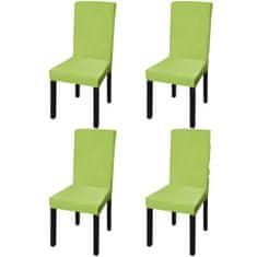 shumee Elastyczne pokrowce na krzesła, 4 szt., zielone