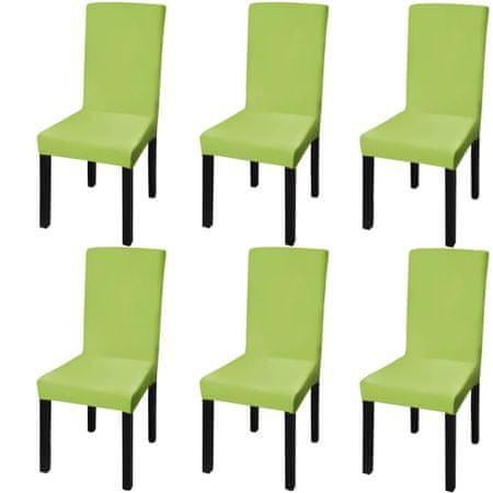shumee Elastyczne pokrowce na krzesła w prostym stylu, 6 szt., zielone