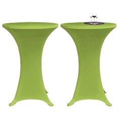 shumee Elastyczne nakrycie stołu zielone 2 szt. 60 cm